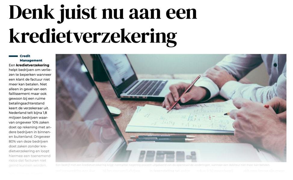 De Kredietverzekeraars artikel Financieel Dagblad Economie en Investeren november 2020